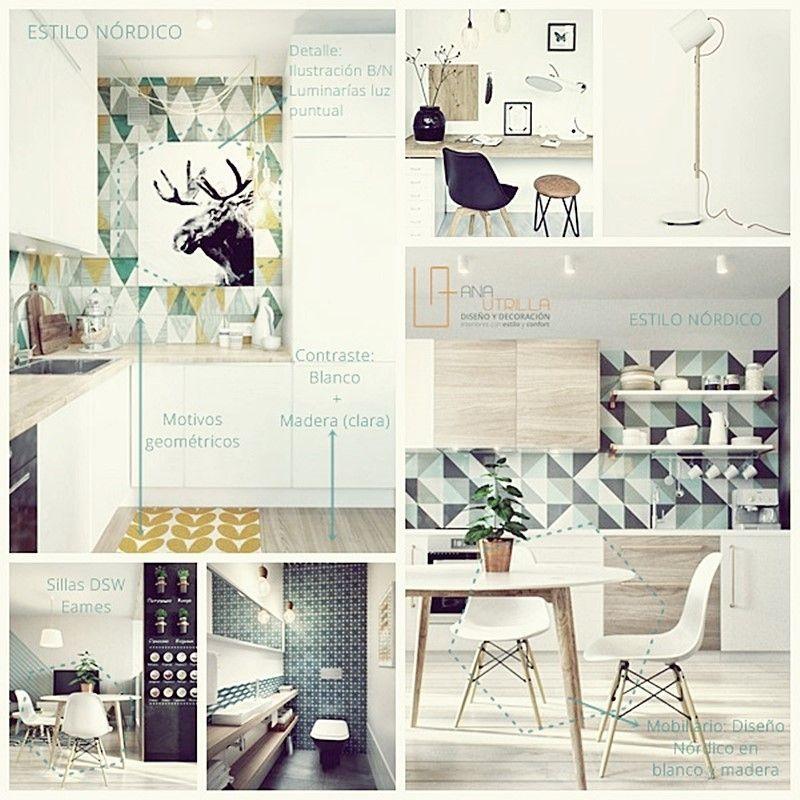 Decoración de interiores con estilos nórdico o industrial, analizando las piezas clave
