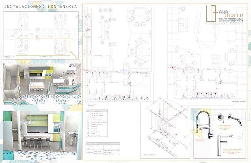 Instalaciones de proyecto de interiorismo espacio coworking en Valladolid por Ana Utrilla