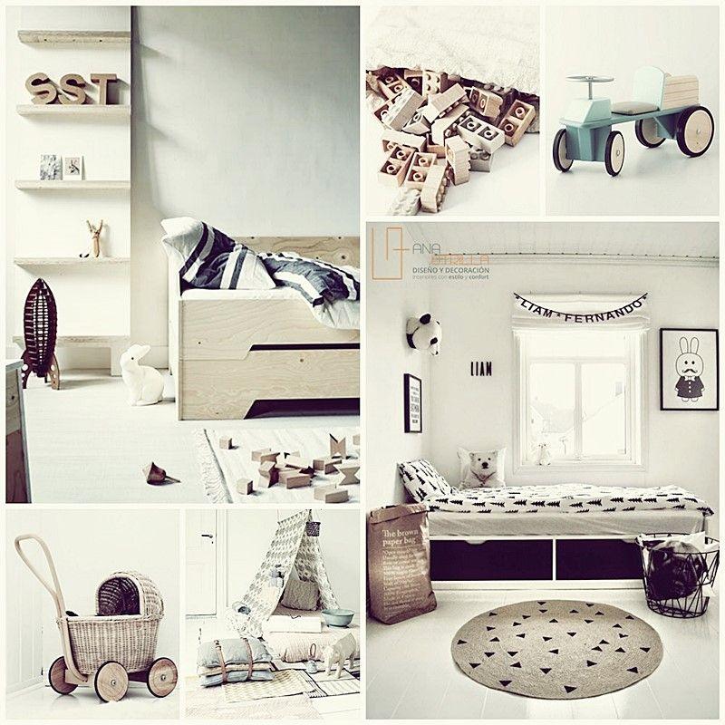 Decoración de interiores de habitaciones infantiles de estilo nórdico