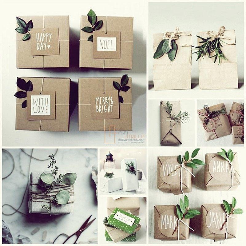 Ideas decorativas DIY para navidad de estilo nórdico rústico minimalista