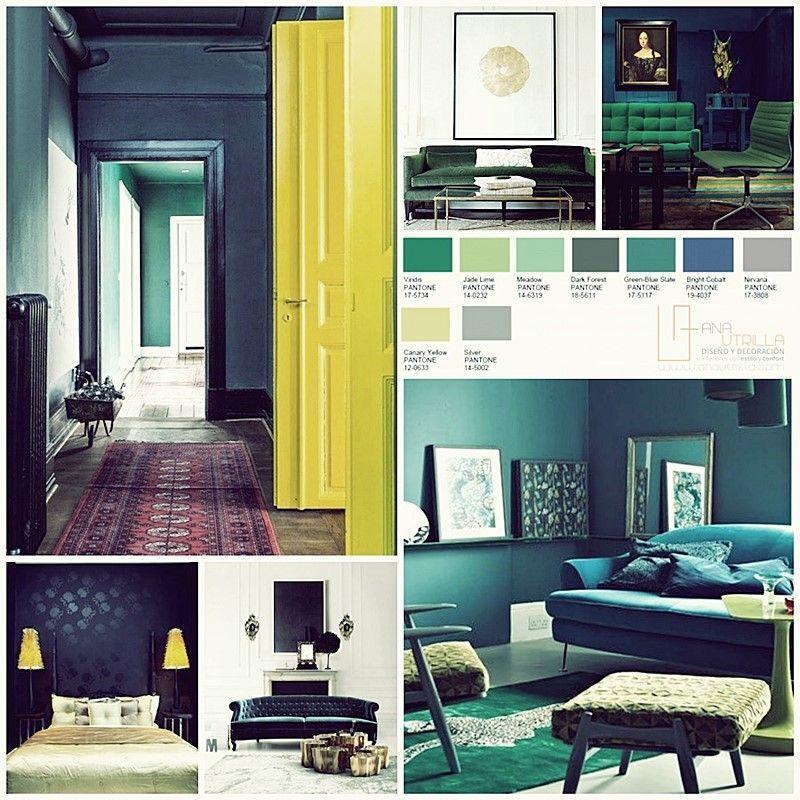 Dicotomía de colores pantone 2016 en decoración de interiores por Ana Utrilla