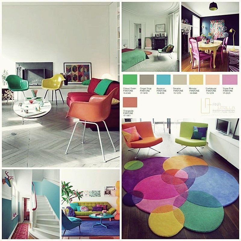 Colores pantone 2016 en decoración, vivos y vibrantes