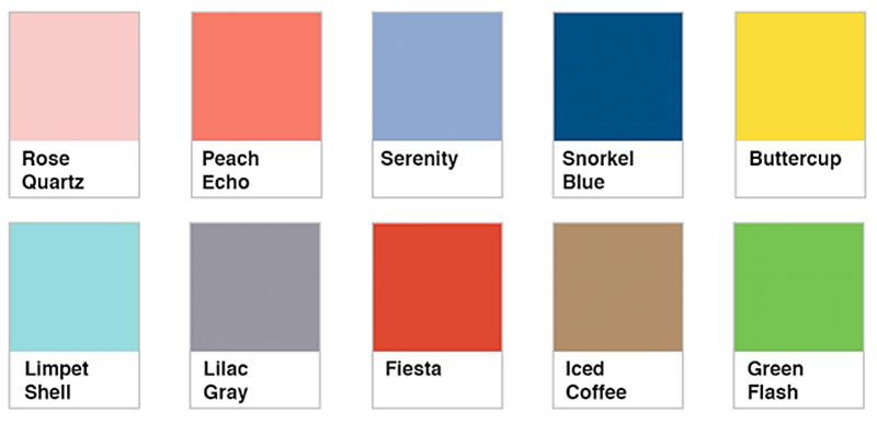 una paleta unisex en los colores pantone 2016 en decoración de interiores