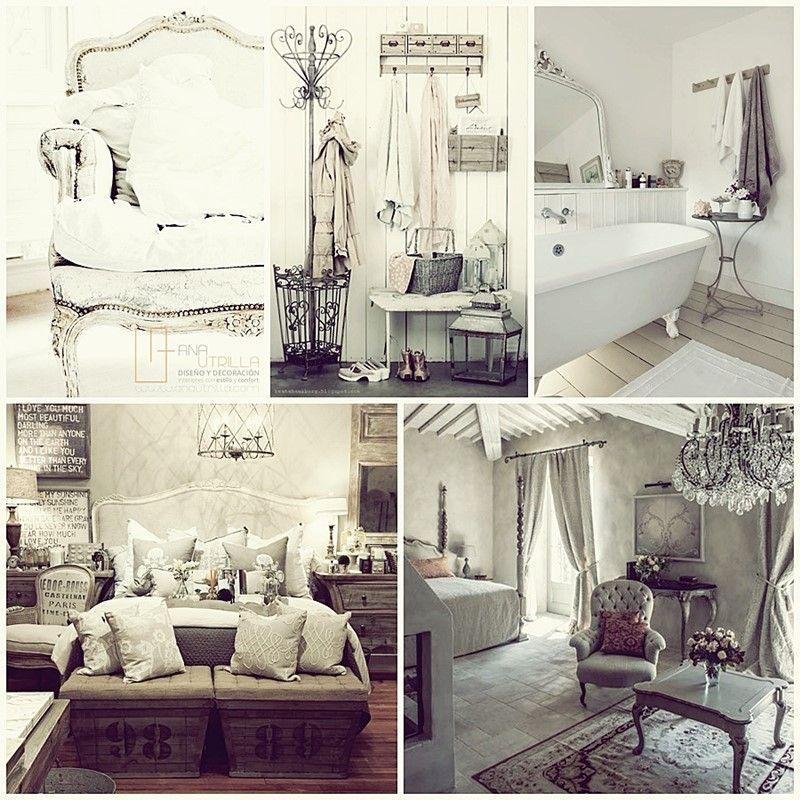Decoración de interiores con estilo shabby chic por Ana Utrilla Diseño de Interiores Online
