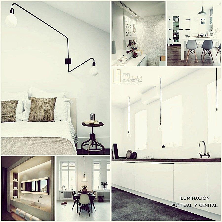 Iluminación adecuada para ampliar el espacio de tu casa o negocio por Ana Utrilla Diseño de Interiores Online