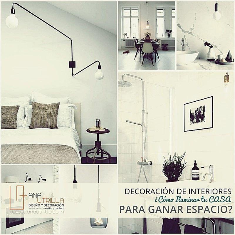 Iluminar para ampliar el espacio de tu hogar o trabajo por Ana Utrilla Diseño de Interiores Online