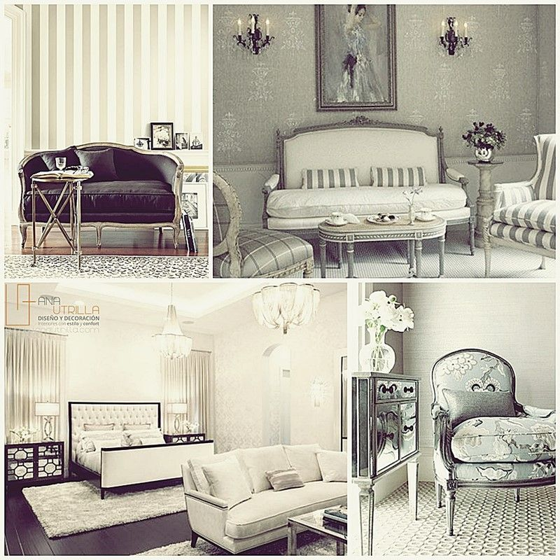 Estilo clásico en decoración de interiores con mobiliario de estilo fránces o inglés por Ana Utrilla Diseño de Interiores