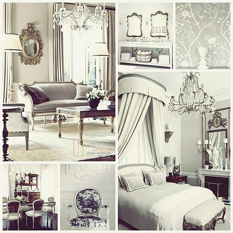Estancias de estilo francés clásico, por Ana Utrilla Diseño de Interiores Online