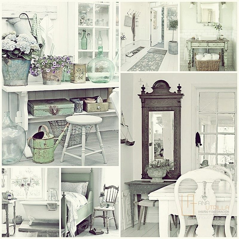 Decorar con estilo shabby chic ambientes de trabajo o de tu casa por Ana Utrilla Diseño de Interiores Online