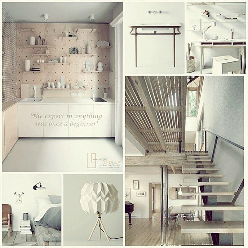 Decoración de interiores de estilo nórdico en tonos claros por Ana Utrilla Diseño y decoración de interiores online