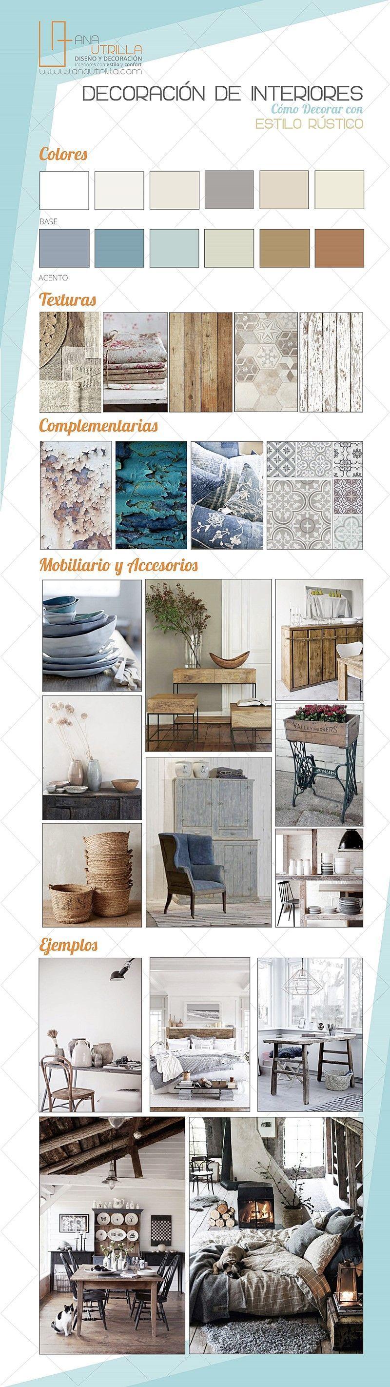 Como decorar con estilo rústico tu espacio, consejos e ideas para tu casa por Ana Utrilla