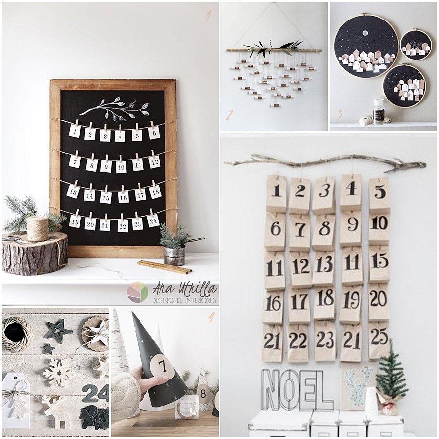 Cómo crear un calendario de Adviento DIY por Ana Utrilla Diseño de Interiores