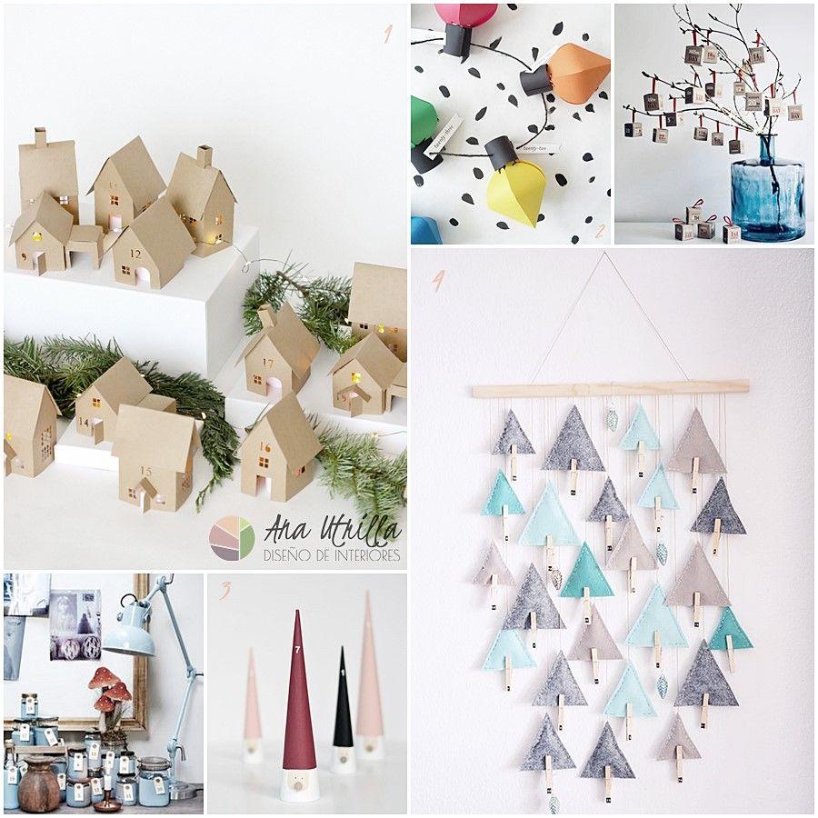 Ideas para hacer un calendario de adviento DIY por Ana Utrilla Diseño de Interiores