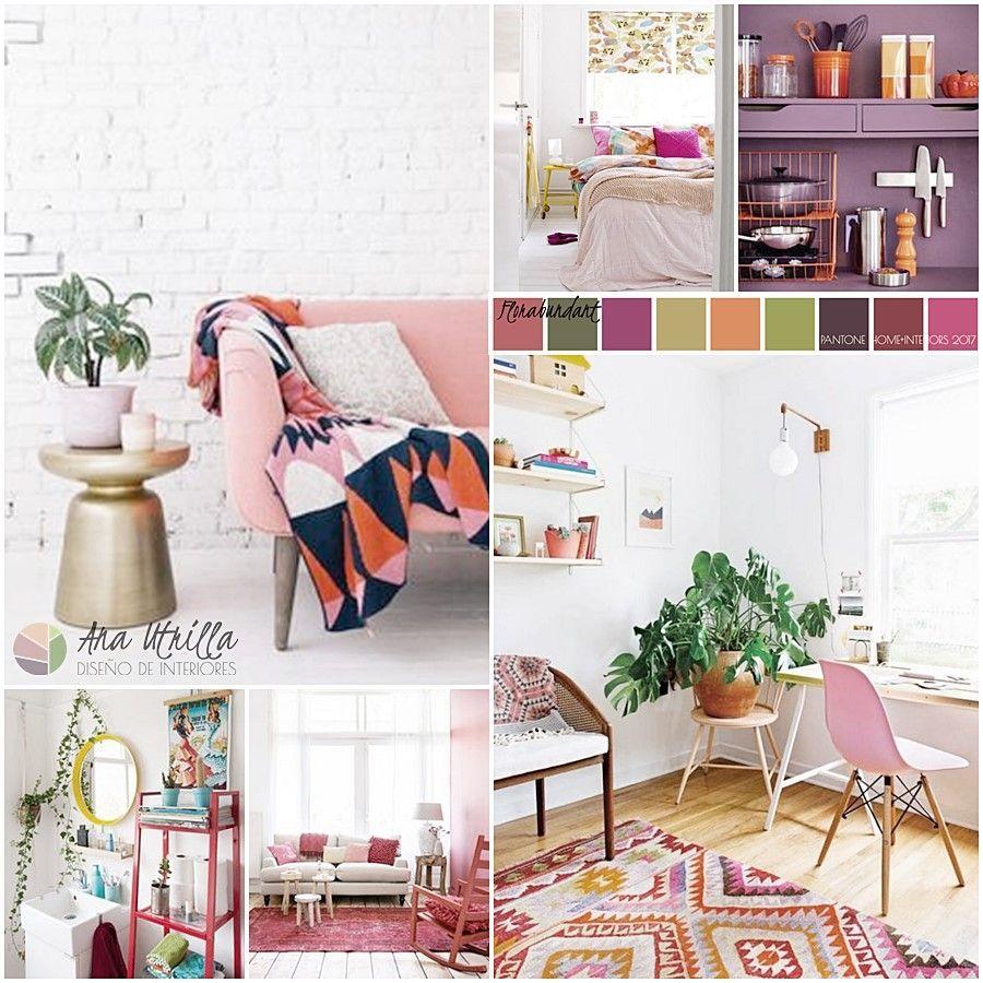 Florabundant paleta de color 2017 por pantone para decoración de interiores