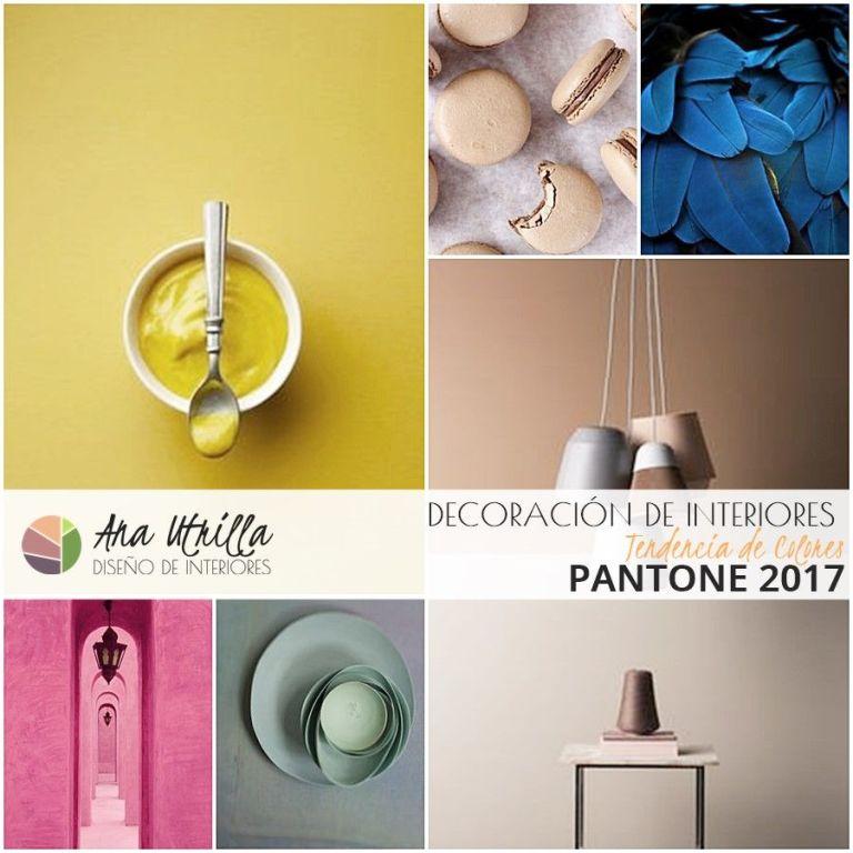 Guía Pantone 2017 colores decoración de interiores por Ana Utrilla