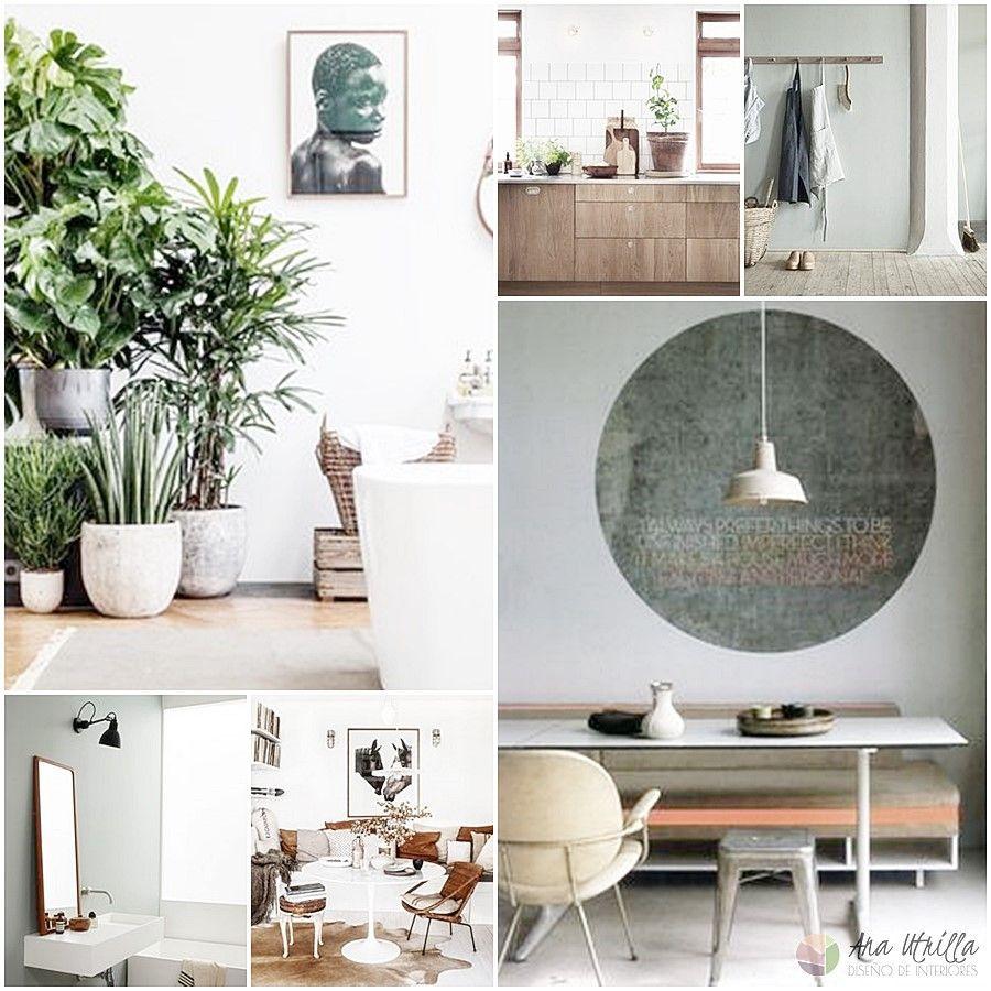 Moodboard colores pantone 2017 en decoración de interiores por Ana Utrilla