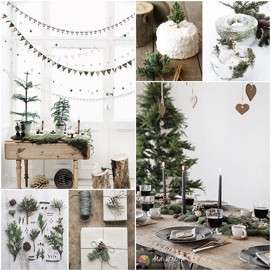 Nature Christmas tendencias navidad 2017 tonos tostados y verdes de influencia nórdica para decorar esta navidad