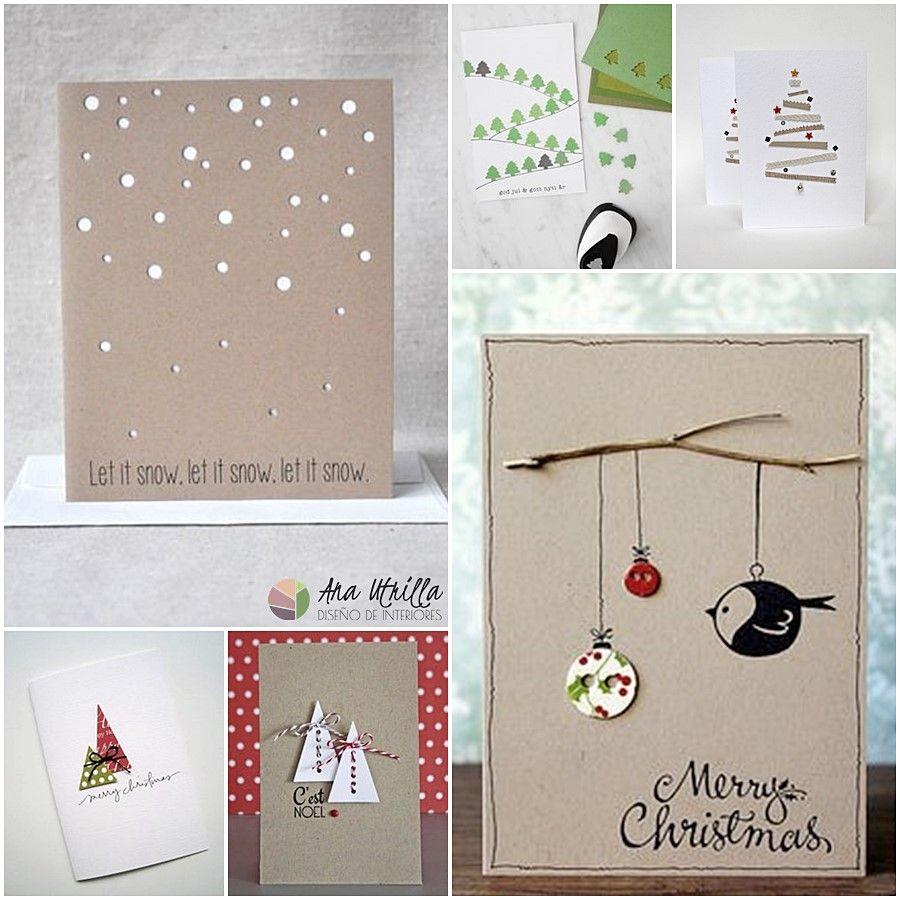 Tarjetas de Navidad diy para sorprender a tus invitados y familiares