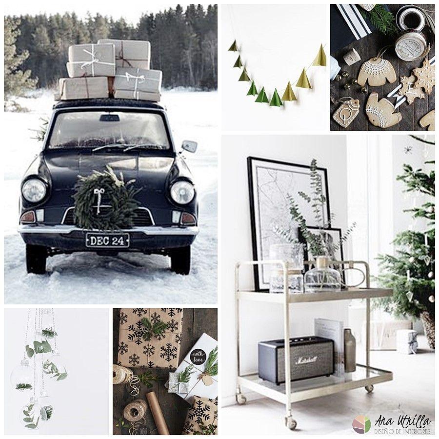 Decoración de Navidad en tonos de la naturaleza por Ana Utrilla