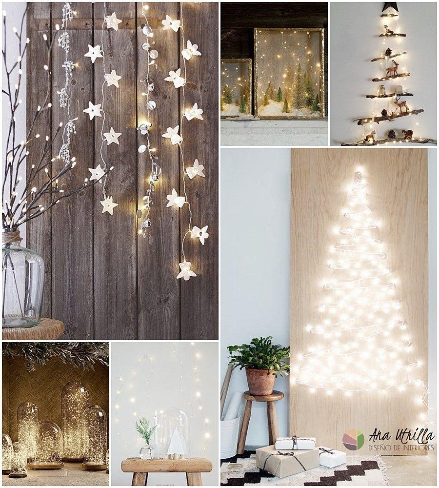 Luces de navidad, utiliza luces como iluminación auxiliar en tu decoración de Navidad