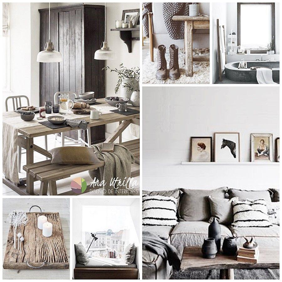 Decoración de interiores en tonos neutros y materiales naturales por Ana Utrilla