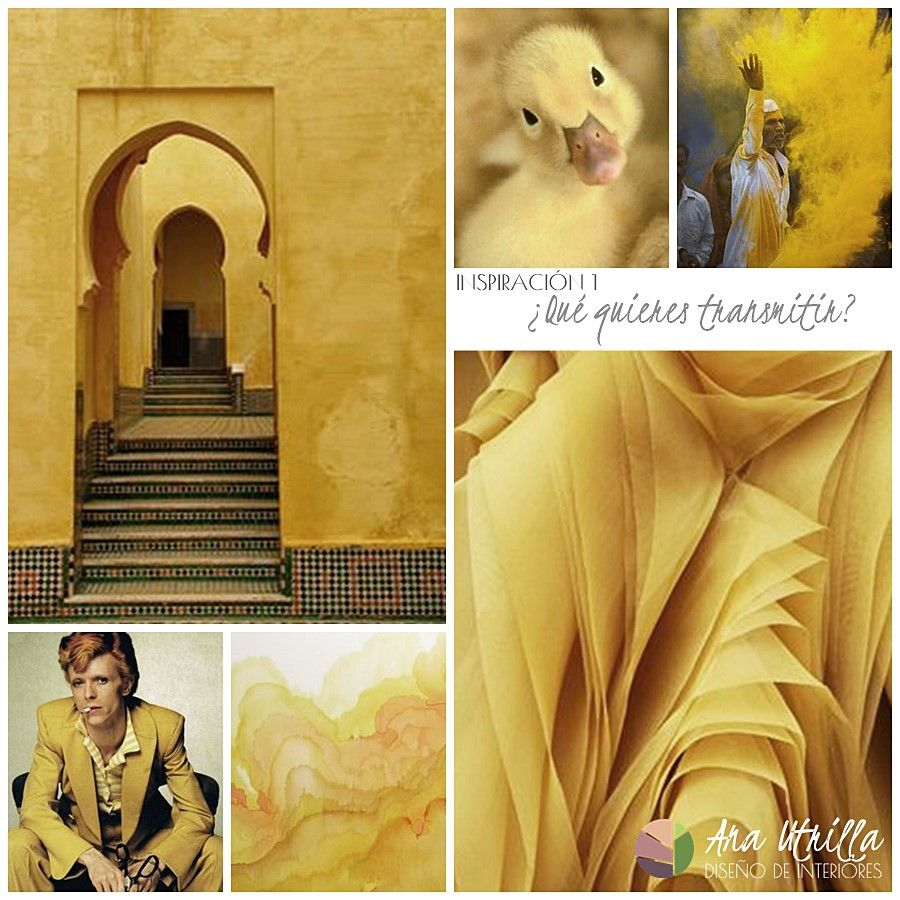 cómo combinar el color amarillo en decoración de interiores por Ana Utrilla interiorismo