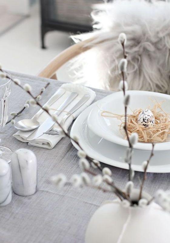 Decoración de mesa para Pascua en tonos neutros y estilo nórdico @utrillanais
