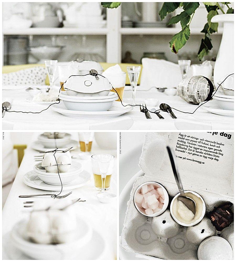 Decoración de mesas para aperitivo en Semana Santa, Pascua por Ikea