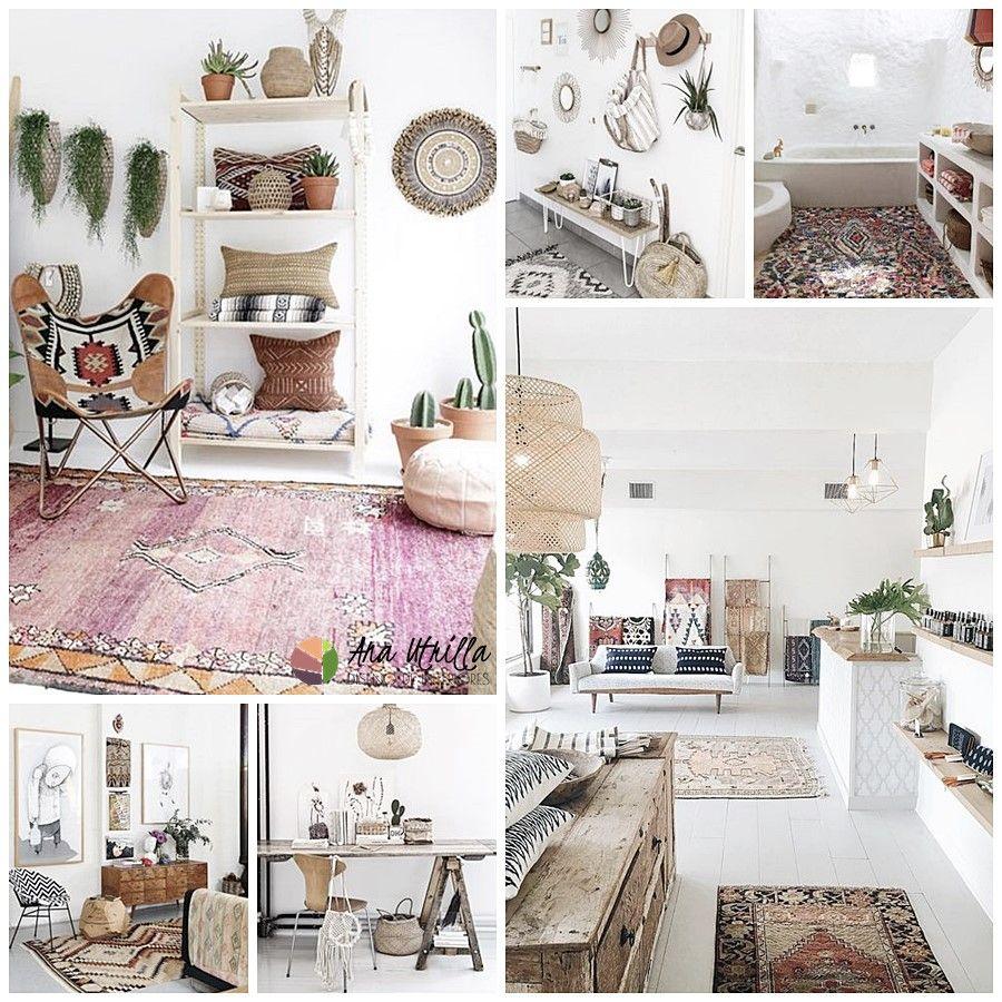 Estilo Boho Chic, decoración de interiores cálidos