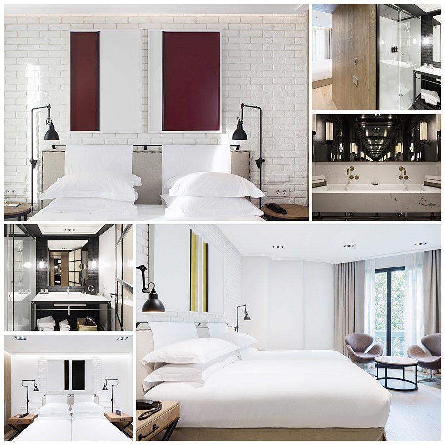 Hotel the Corner en Barcelona, habitaciones y baño, interiorismo por Rosa Roselló