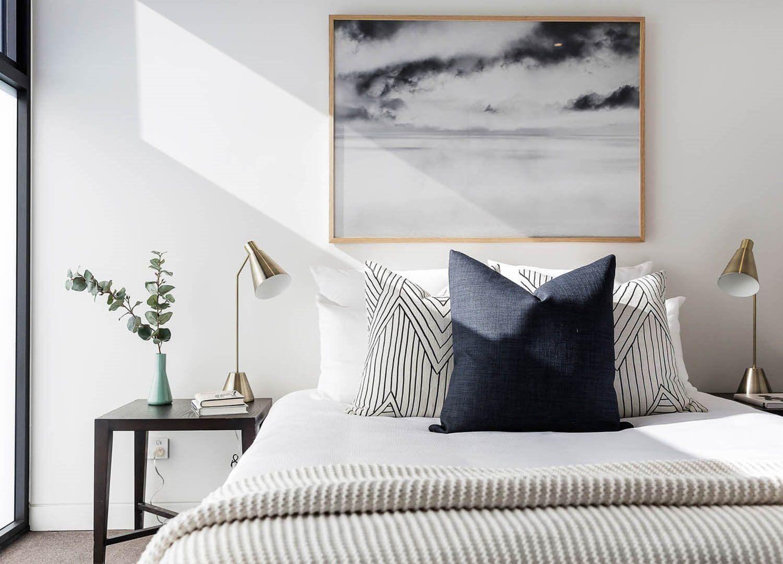 Diseño de interiores y decoración minimalista, acogedora, cálida y sofisticada