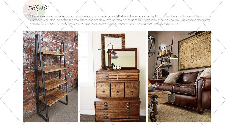 Muebles de estilo industrial trendy cmoda pantalonera - Mobiliario estilo industrial ...