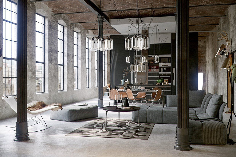 Estilo industrial en decoraci n de interiores dise o de - Diseno de lofts interiores ...