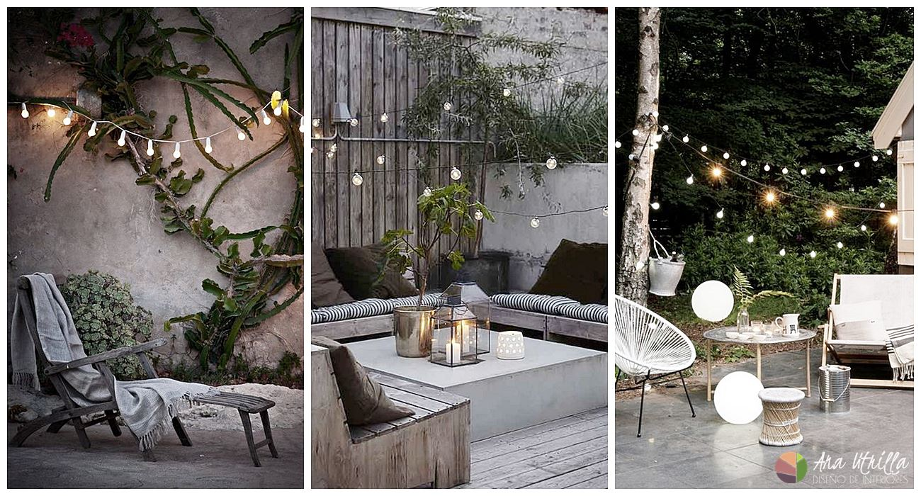Ilumina adecuadamente tu terraza y llénala de una atmósfera de cuento