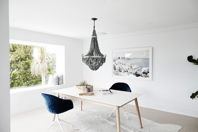 Zona office en casa de estilo nordethnic