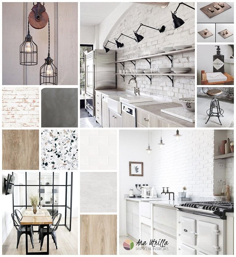 Proyecto interiorismo en Ciudad Real para cocina de estilo industrial por Ana Utrilla