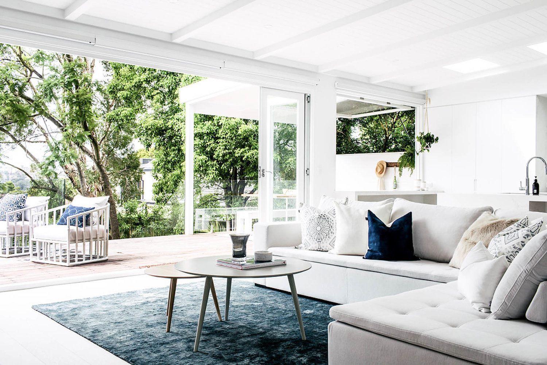 Diseño de interiores de esto contemporáneo, nórdico y toques étnicos