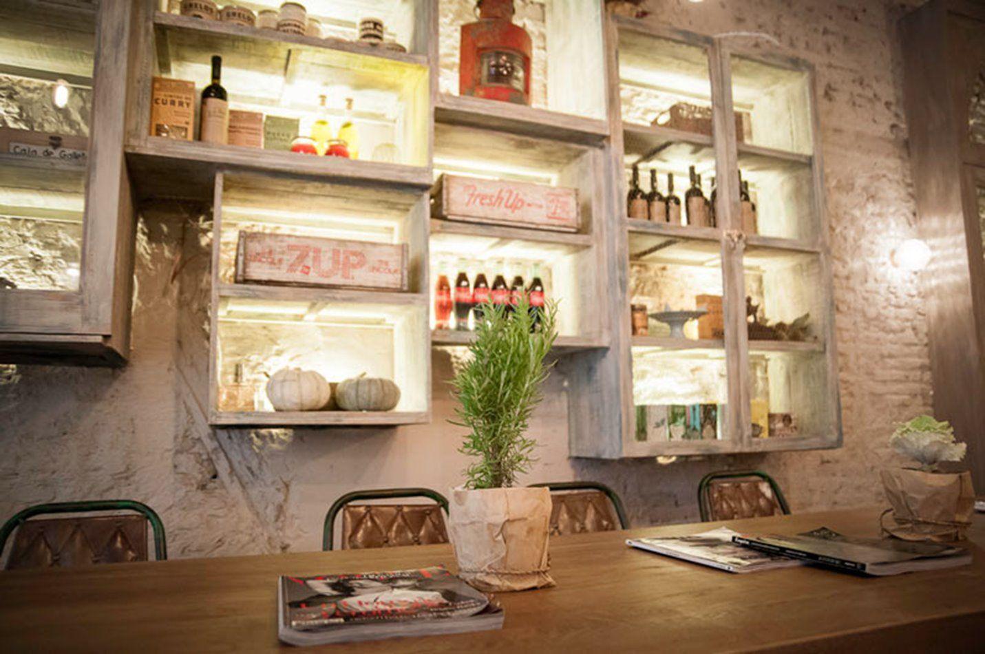 Interiorismo de estilo vintage y farmhouse en MariCastaña Madrid