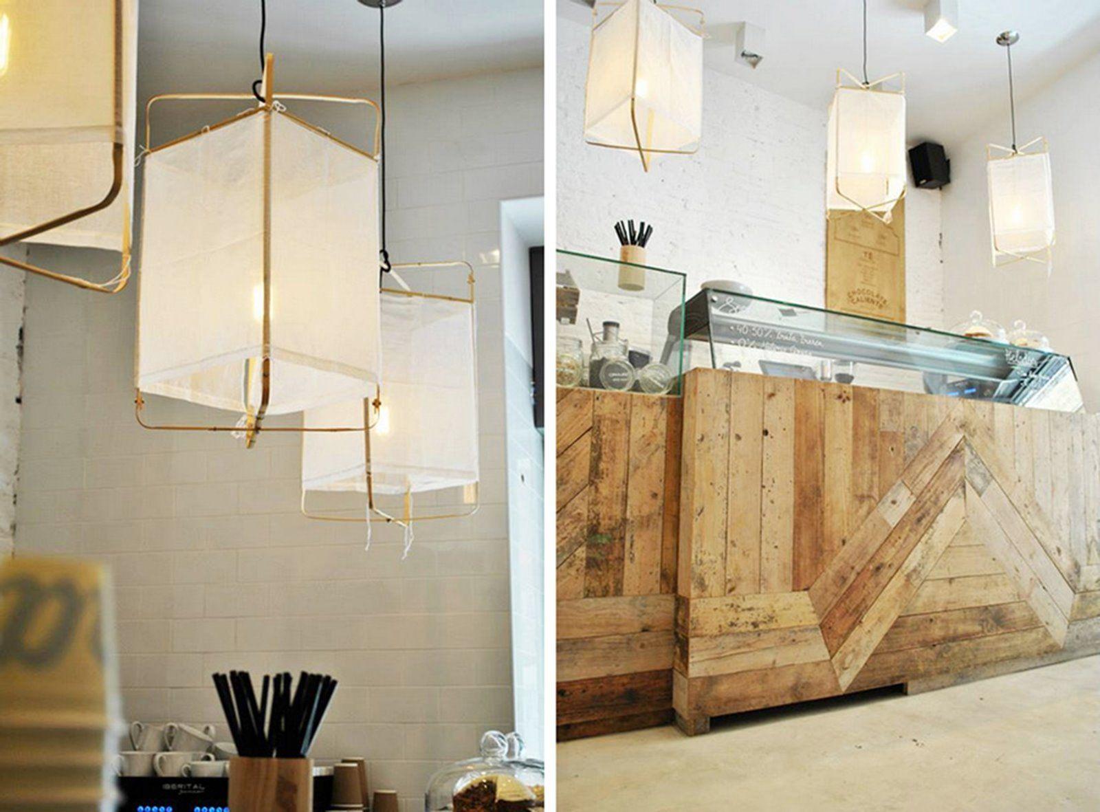 Interiorismo comercial de local en Madrid heladería Mistura en estilo rústico noretnic