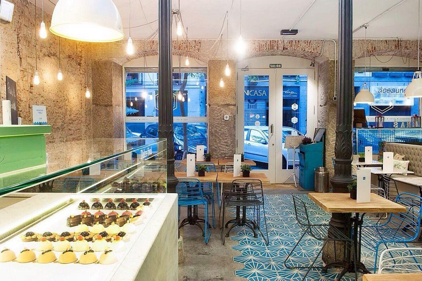 Pastelería cafetería y obrador Fonty en Madrid de estilo industrial nórdico