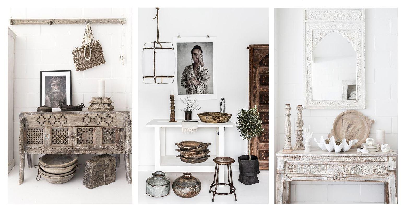 Mobiliario de estilo indie morocco para decorar con estilo noretnic