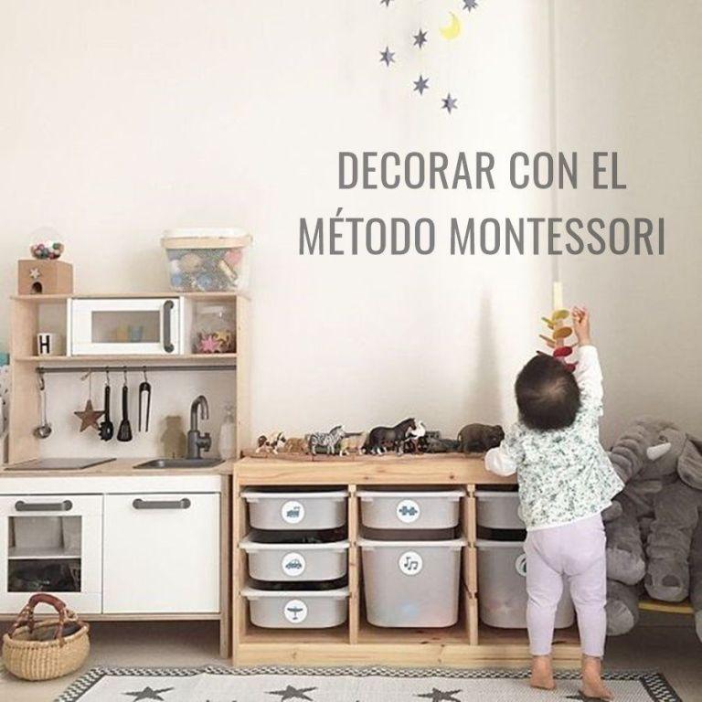 DECORAR CON EL MÉTODO MONTESSORI UNA HABITACIÓN INFANTIL