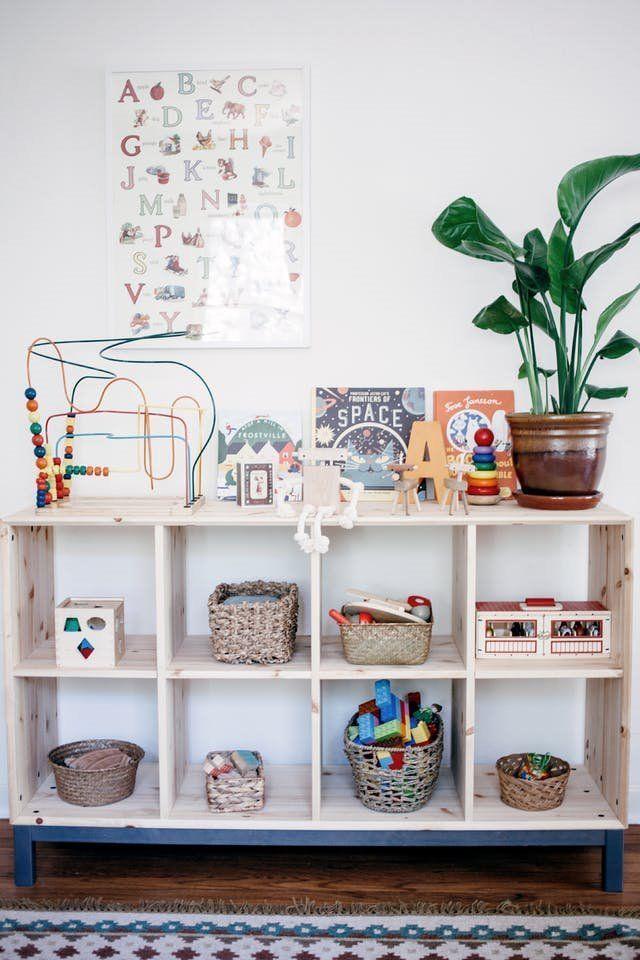 Método Montessori para decorar una habitación infantil de estilo nórdico vintage
