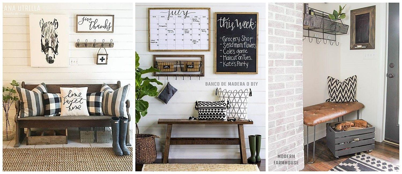 Banco rústico de madera o Diy, para decorar tu hogar con estilo farmhouse moderno por @utrillanais