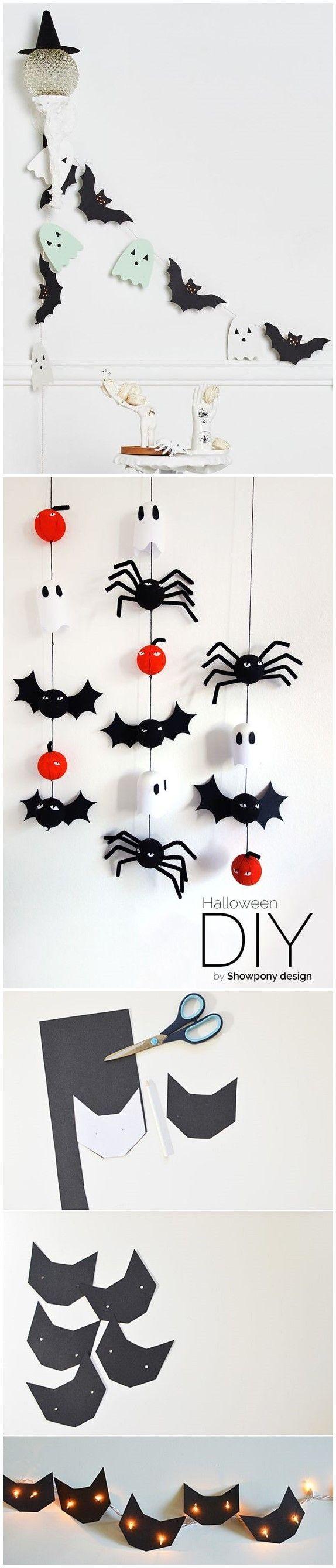 Divertidas y adorables guirnaldas para hacer con los más peques de casa para decorar tu casa en Halloween @Utrillanais