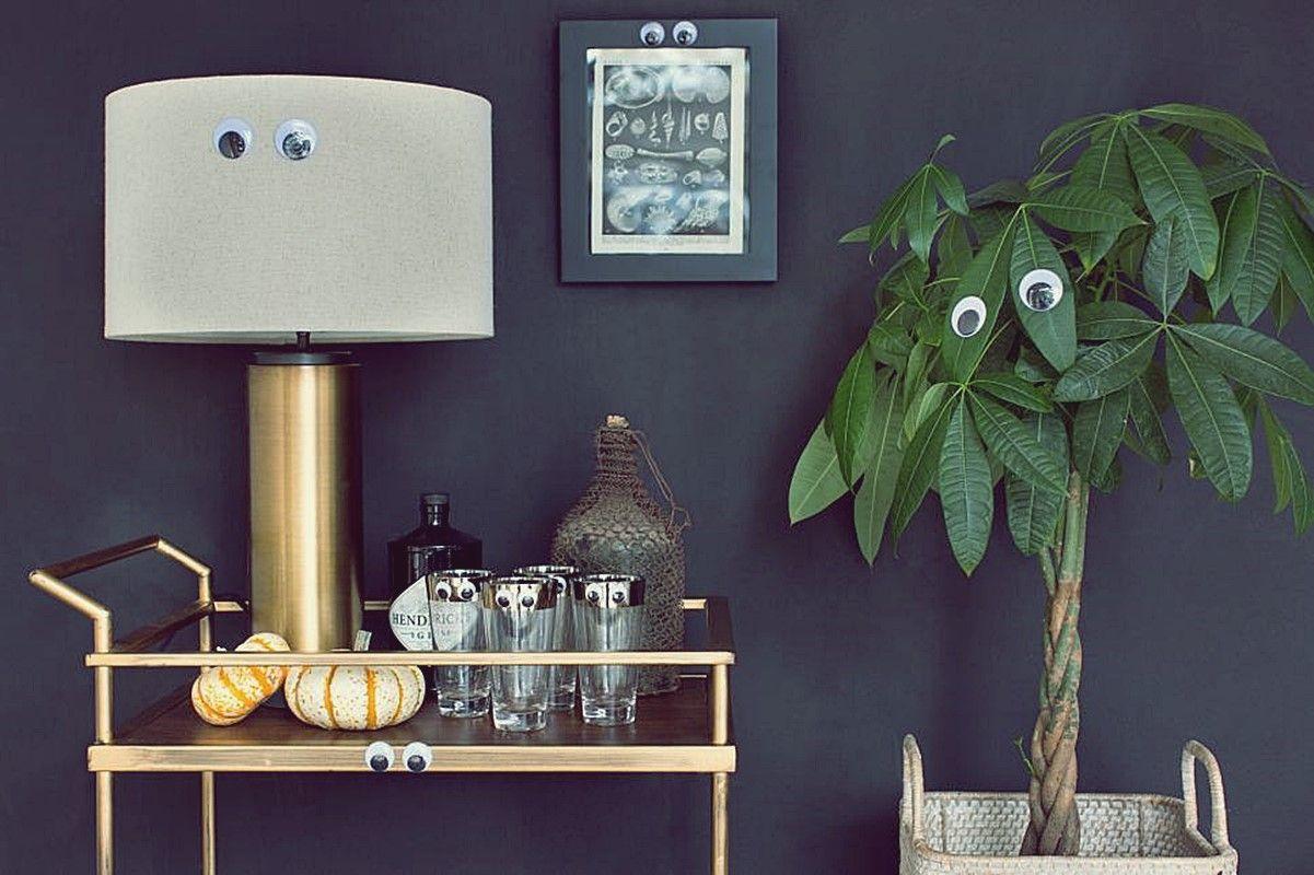 Ojos en los muebles para decorarlos en Halloween @Utrillanais
