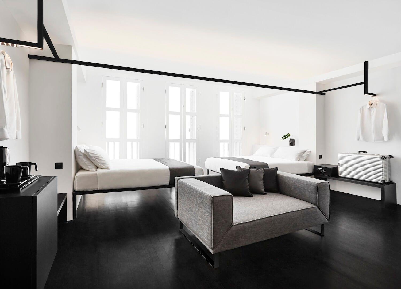 Interiorismo comercial de hotel, habitación del hotel Mono en Singapur @Utrillanais
