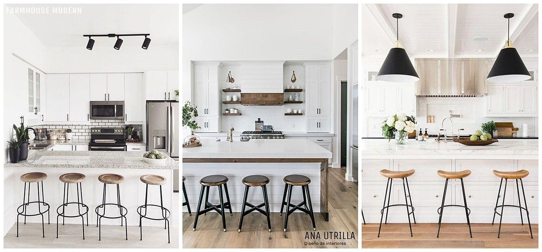 Taburetes de estilo industrial para completar tu decoración de interiores de estilo farmhouse moderno @utrillanais