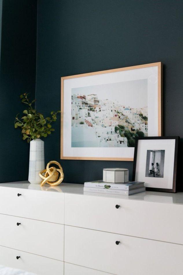 Decoración de interiores para habitación de color azul petróleo de estilo Farmhouse moderno @Utrillanais