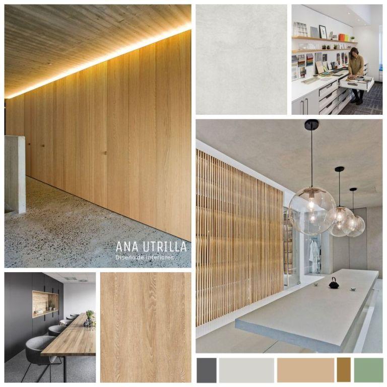 Proyecto de diseño de interiores 3d de local inmobiliaria en Palencia @Utrillanais